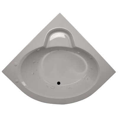 60 x 60 Round Front Corner Salon Spa Soaking Tub Finish: Biscuit, Motor Location: Right