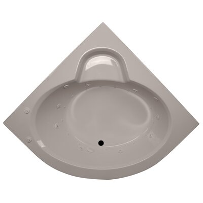 60 x 60 Round Front Corner Salon Spa Soaking Tub Finish: Bone, Motor Location: Left