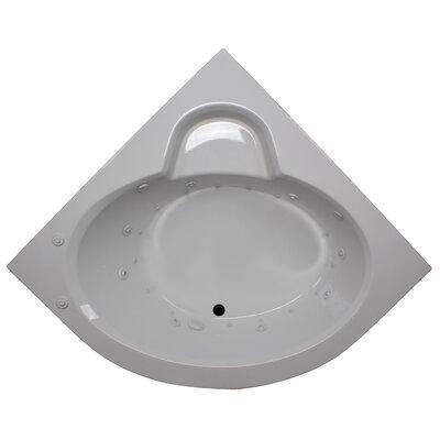 60 x 60 Round Front Corner Salon Spa Soaking Tub Finish: White, Motor Location: Left