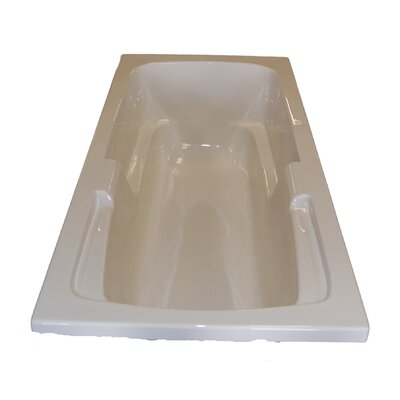 60 x 32 Arm-Rest Salon Spa Air/Whirlpool Tub Finish: Bone, Drain Location: Right