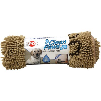 Clean Paws Dog Mat Size: Large (35 L x 24 W), Color: Tan