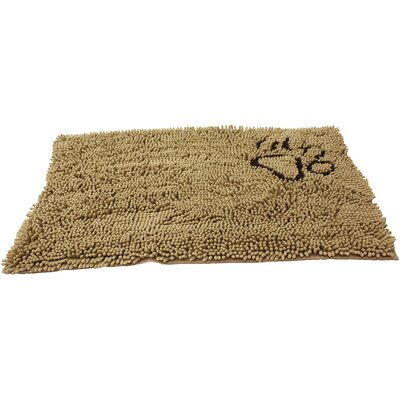 Clean Paws Dog Mat Size: Small (31 L x 20 W), Color: Tan