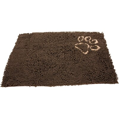 Clean Paws Dog Mat Size: Small (31 L x 20 W), Color: Brown