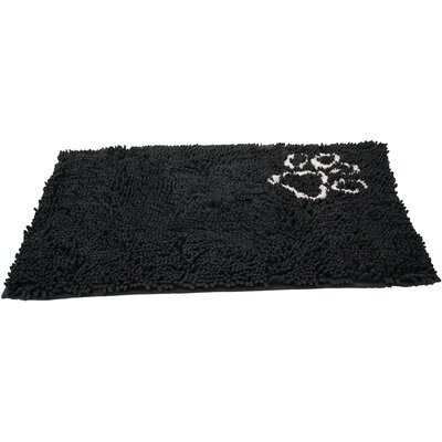Clean Paws Dog Mat Size: Large (35 L x 24 W), Color: Gray