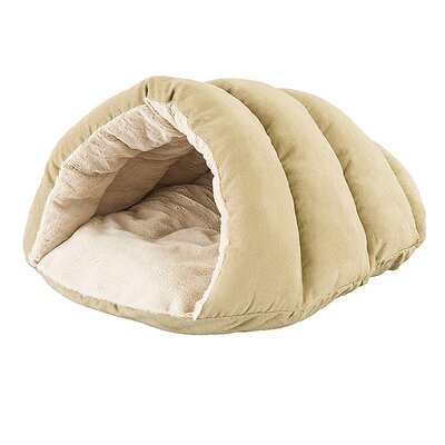 Sleep Zone Cuddler Cave Hooded Dog Bed Color: Tan