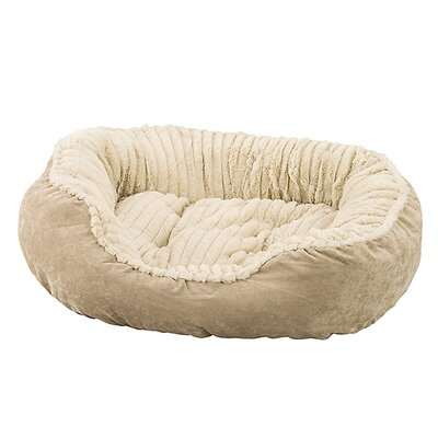 Sleep Zone Carved Plush Dog Bed