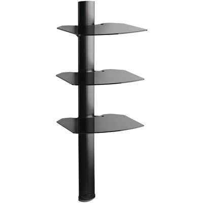 3 Shelf Wall System with Cable Management Finish: Black