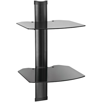 TRIA Wall System with Cable Management Number of Shelves: 1, Finish: Black (with Black Shelves)