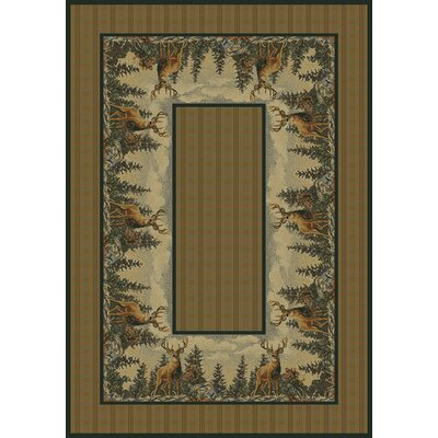 Hautman Standing Proud Brown Area Rug Rug Size: 53 x 76