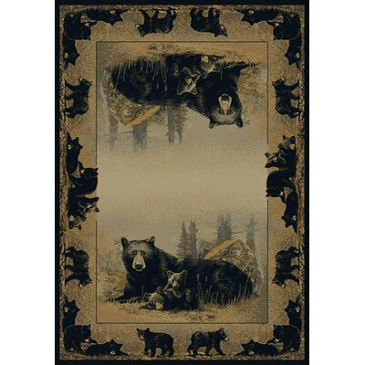 Hautman Time To Play Black/Beige Area Rug Rug Size: 53 x 76