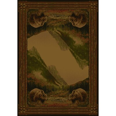 Hautman Grizzly Mountain Lodge Brown Area Rug Rug Size: Runner 111 x 74