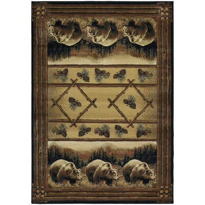 Hautman Grizzly Pines Lodge Brown Area Rug Rug Size: Runner 111 x 74