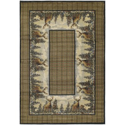 Hautman Standing Proud Brown Area Rug Rug Size: 110 x 3