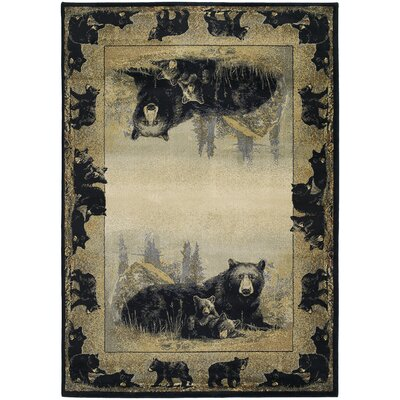 Hautman Time To Play Black/Beige Area Rug Rug Size: 110 x 3