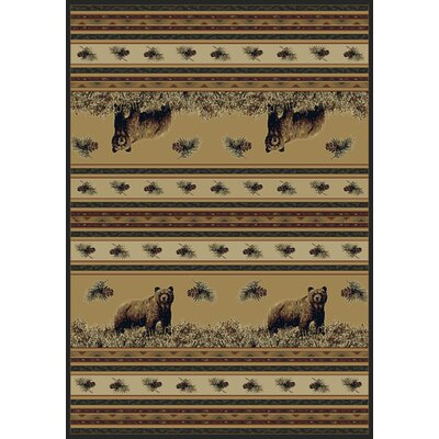 Marshfield Pine Creek Bear Novelty Area Rug Rug Size: 311 x 53