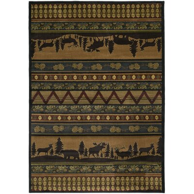 Marshfield Pine Valley Novelty Area Rug Rug Size: 53 x 76