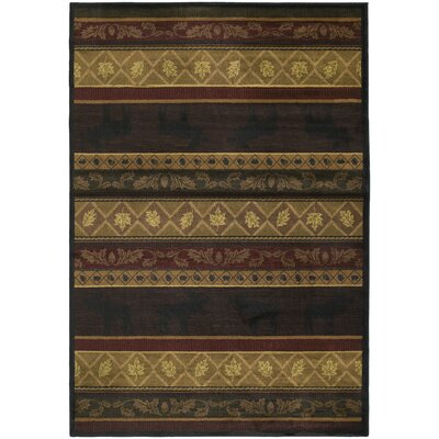Marshfield Moose Novelty Area Rug Rug Size: Runner 111 x 74