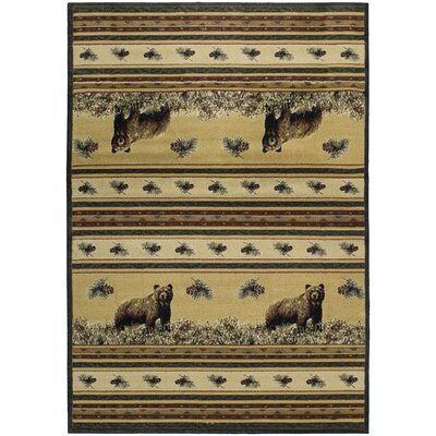 Marshfield Pine Creek Bear Novelty Area Rug Rug Size: 710 x 106