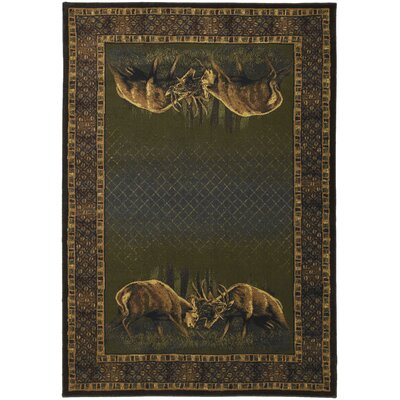 Buckwear Winner Takes All Lodge Green and Brown Novelty Rug Rug Size: 311 x 53