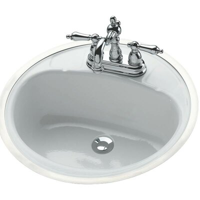 Circular Drop-In Bathroom Sink with Overflow