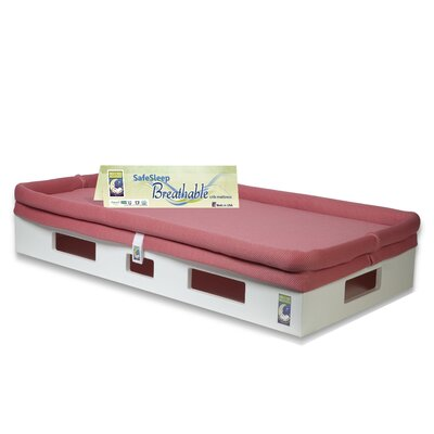 Secure Beginnings SafeSleep Breathable Crib Mattress - Base Color: White, Sleep Surface Color: Fuchsia at Sears.com
