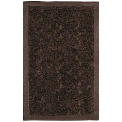 Animal Hide Brown/Black Fur Area Rug Rug Size: 5 x 8