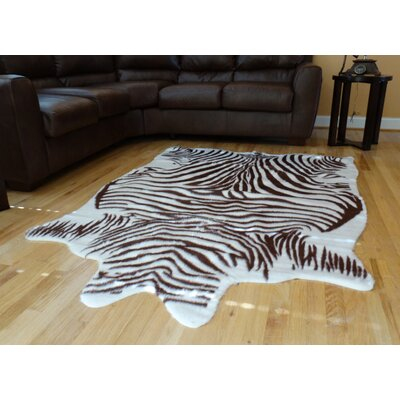 Chanler Brown/White Zebra Area Rug Rug Size: 5 x 7