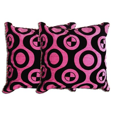 Decorative Throw Pillow Color: Pink / Black