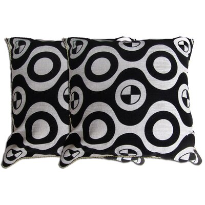 Decorative Throw Pillow Color: Black / White