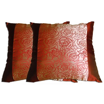 Decorative Throw Pillow Color: Brown / Red