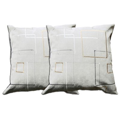 Decorative Throw Pillow Color: Grey