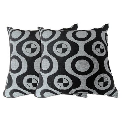 Decorative Throw Pillow Color: Black / Grey