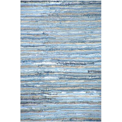 Hand Woven Blue Area Rug Rug Size: 8 x 11