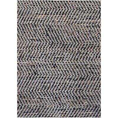 Black Flatweave Area Rug Rug Size: 6 x 9