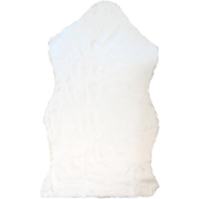 Chanler White Sheep Fur Area Rug Rug Size: 5 x 7