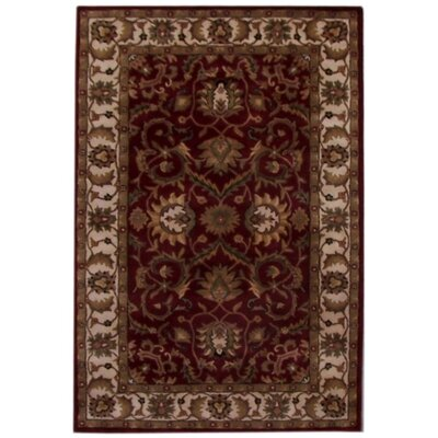 Aaryan Red/Cream Area Rug Rug Size: 5' x 8'