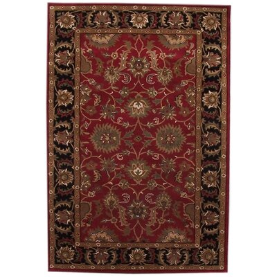 Aaryan Red/Black Area Rug Rug Size: 5 x 8