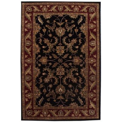 Aaryan Black/Burgundy Area Rug Rug Size: 5 x 8