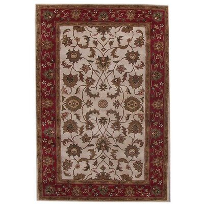 Aaryan Cream/Red Area Rug Rug Size: 5 x 8