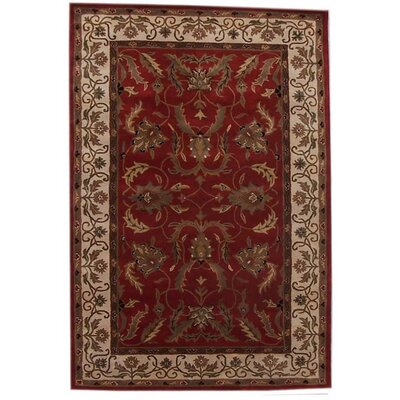 Aaryan Red/Cream Area Rug Rug Size: 5 x 8