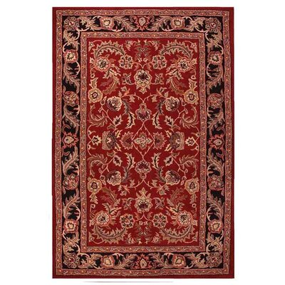 Artios Red/Black Area Rug Rug Size: 5 x 8