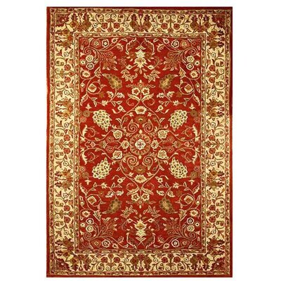 Artios Red/Gold Area Rug Rug Size: 5 x 8