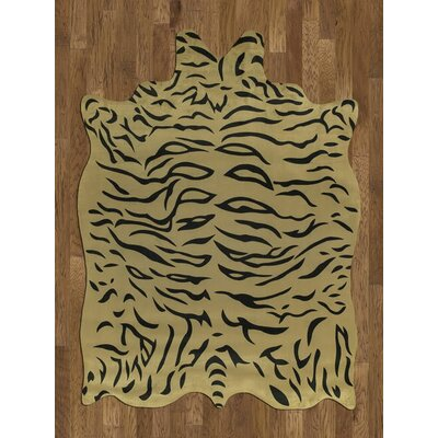 Chanler Yellow/Black Tiger Area Rug Rug Size: 5 x 7