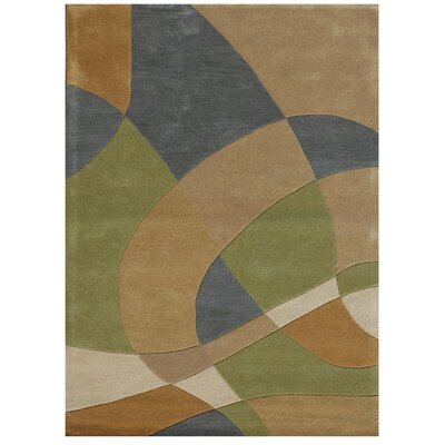 Ashley Brown/Green Area Rug Rug Size: 5 x 8