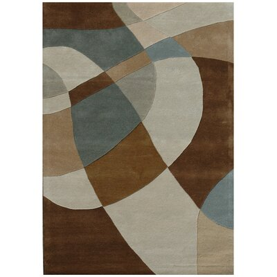 Ashley Swirl Beige/Brown Area Rug Rug Size: 5 x 8