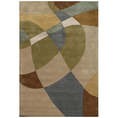 Ashley Beige/Green Area Rug Rug Size: 5 x 8