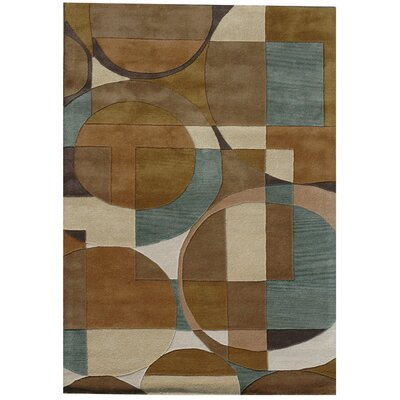 Ashley Circle Brown Area Rug Rug Size: 5 x 8