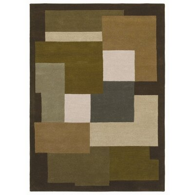 Ashley Green/Beige Area Rug Rug Size: 5 x 8