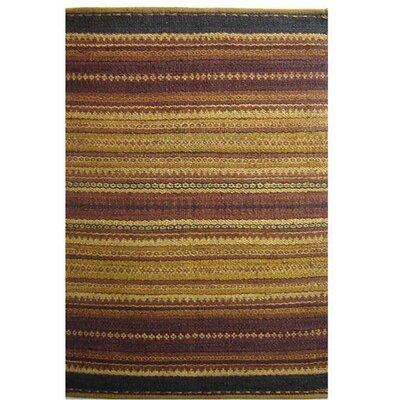 Diana Burgundy Area Rug Rug Size: 5 x 8