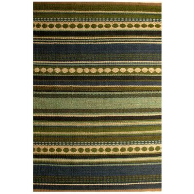 Diana Green Area Rug Rug Size: 5 x 8